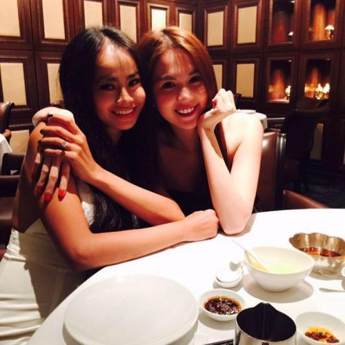 Mỗi lần đến Mỹ, Ngọc Trinh đều đến thăm và cùng Tammy Le đi chơi hay ăn uống như thế này - Ảnh: FBNV
