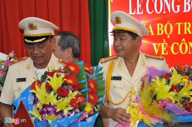 Đại tá Nguyễn Văn Hiểu được bổ nhiệm giữ chức Giám đốc Công an tỉnh Vĩnh Long thay người tiền nhiệm là thiếu tướng Lê Văn Út. Ảnh: Minh Anh.
