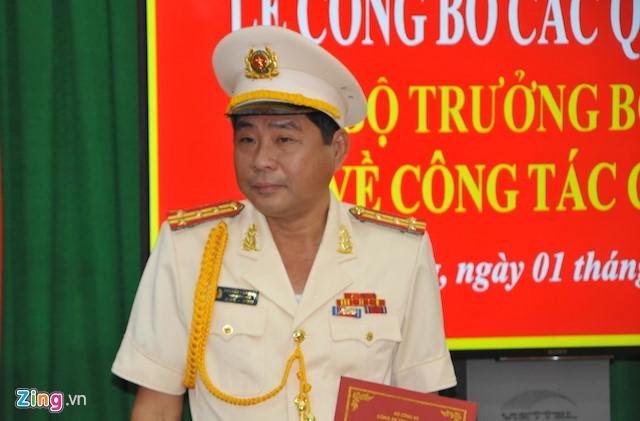 Tân Giám đốc Công an tỉnh Vĩnh Long. Ảnh: Minh Anh.