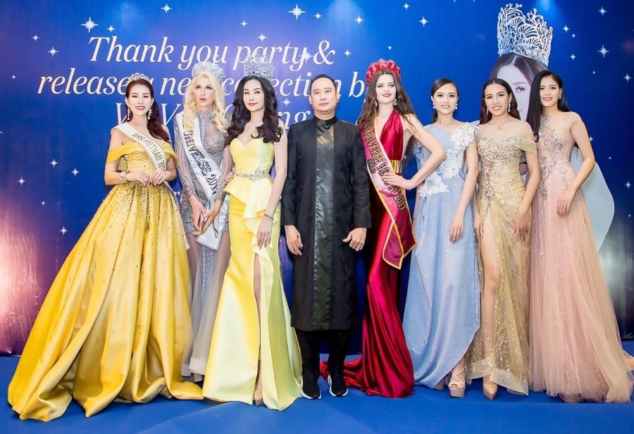 Diễm Kyly, Lê Âu Ngân Anh, NTK Võ Việt Chung cùng các cô gái Nga- Việt