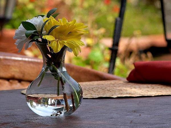 Nghiền aspirin hòa với nước rồi đổ vào bình hoa để giữ hoa tươi lâu hơn.