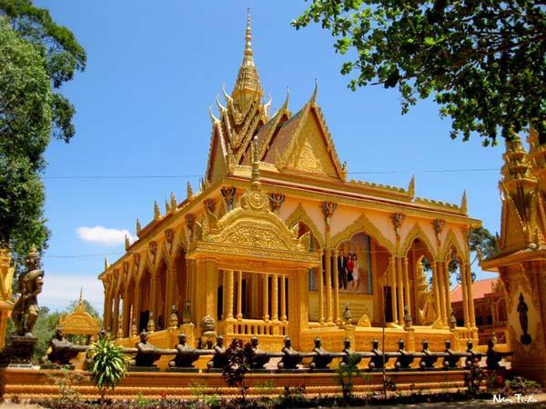 Chùa của người Khmer (ảnh: vov.vn)