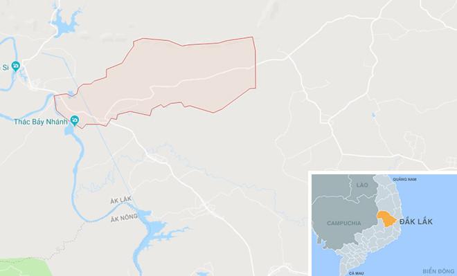 Xã Ea Huar nơi xảy ra sự việc. Ảnh: Google Maps.