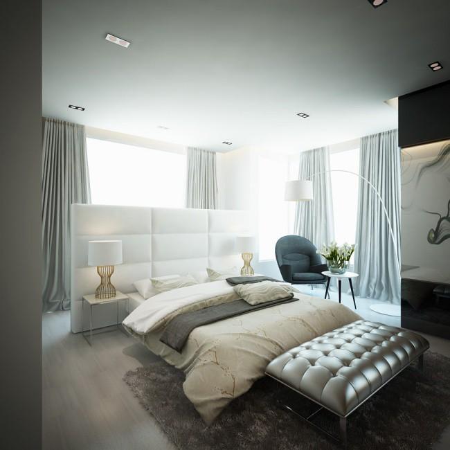 Phòng ngủ được trang trí với gam màu trung tính, đủ để tạo nên vẻ đẹp sang trọng, ấm cúng, thoải mái cho các thành viên trong gia đình.