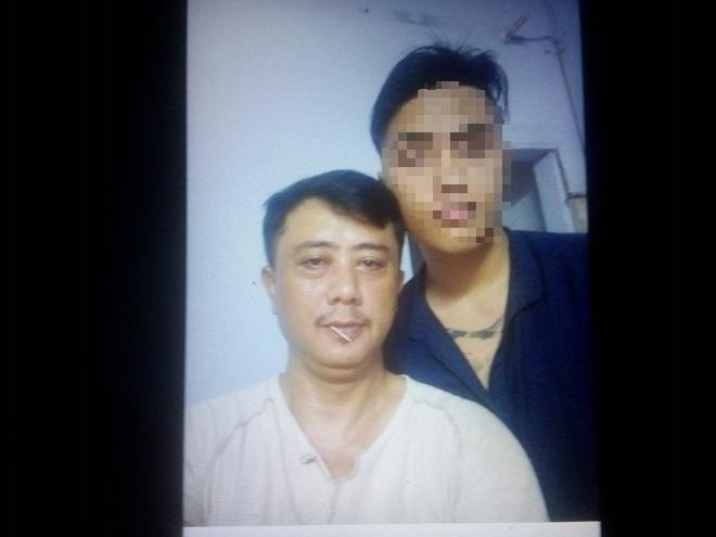 Tấm ảnh cuối của K chụp cùng bố. Ảnh: Minh Mẫn.