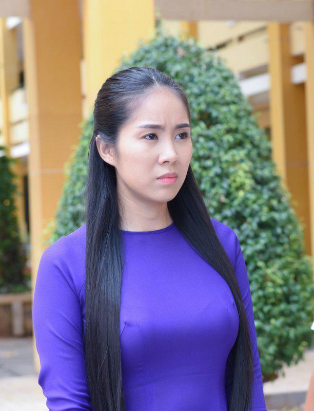 Mái tóc đen dài cùng vẻ ngoài hiền lành của Lê Phương rất hợp với vai gái quê chân chất, hiền lành - Ảnh: Internet