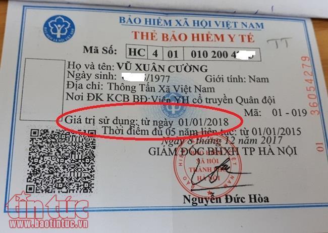 Mẫu thẻ BHYT mới từ năm 2018 không khi ngày hết hạn giá trị