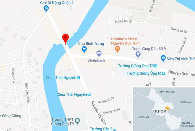 Vị trí gần nơi xảy ra vụ việc. Ảnh: Google Maps.