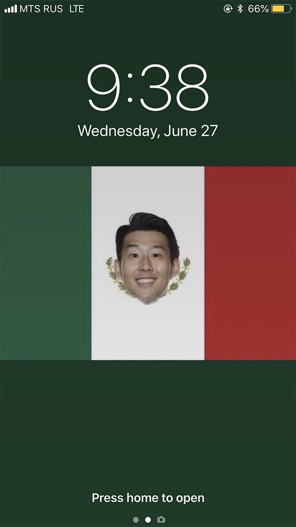 Nhờ có những bàn thắng của Hàn Quốc, Mexico chính thức được vào vòng trong. Không ngạc nhiên khi fan của đội tuyển này chuyển sang hâm mộ tiền đạo Son của Hàn Quốc