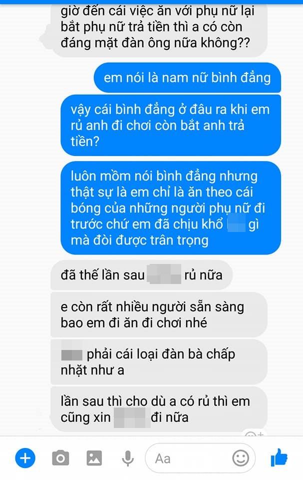 Đi ăn bị bạn trai nhắc trả tiền, cô gái ấm ức nhắn tin sao anh hèn thế và phản ứng bất ngờ - Ảnh 2.
