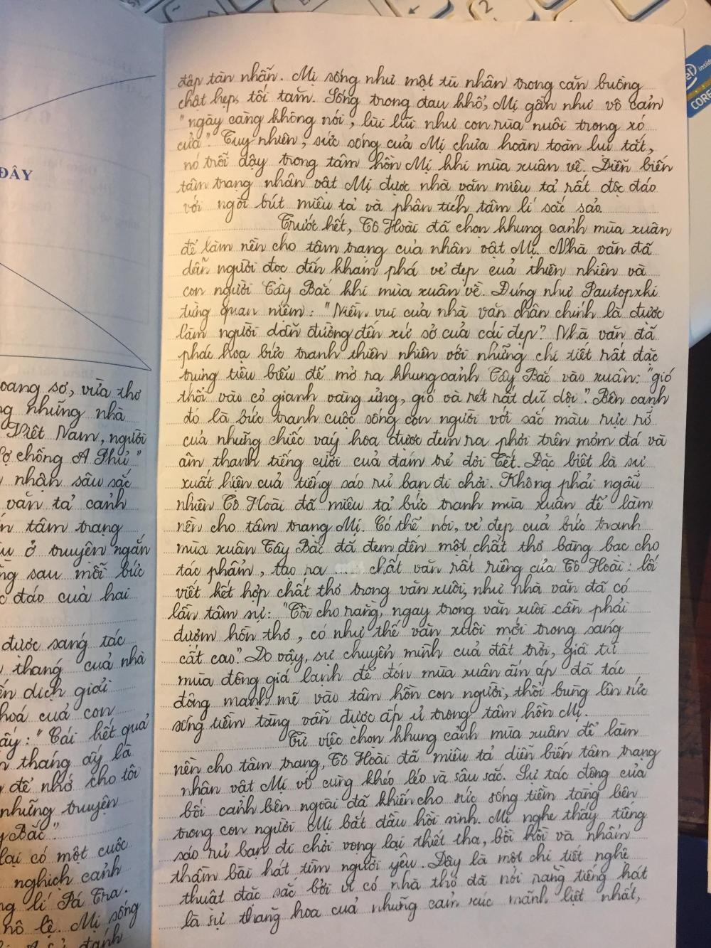 Cậu bạn này có chữ viết đẹp hơn cả con gái