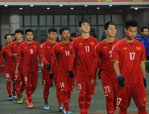 U23 Việt Nam và U23 Palestine đã cống hiến cho người hâm mộ một trận cầu hết sức kịch tính. Ảnh: Thể thao