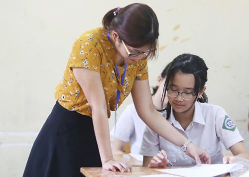 Học sinh THCS ở Hà Nội tham gia kỳ thi tuyển sinh vào lớp 10 năm 2018. Ảnh:Ngọc Thành.