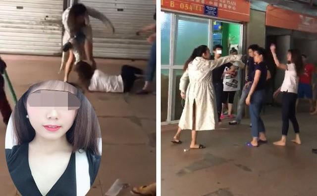 Hình ảnh cắt từ clip Linh Thỏ đánh đập vợ cũ của chồng cách đây hơn 2 tháng.