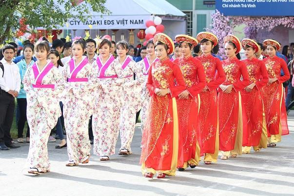 Hình ảnh trong chương trình giao lưu văn hóa Việt Nam và Nhật Bản lần thứ nhất tại Trà Vinh. Nguồn: travinh.gov.vn