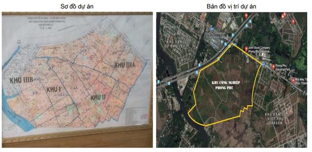 Khu đất 134 ha được Sacombank rao bán với giá khởi điểm 7.600 tỷ đồng. Ảnh: Sacombank.
