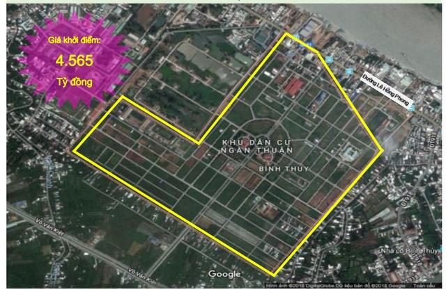 Dự án khu dân cư tại thành phố Cần Thơ được Sacombank rao bán đợt này. Ảnh: Sacombank.