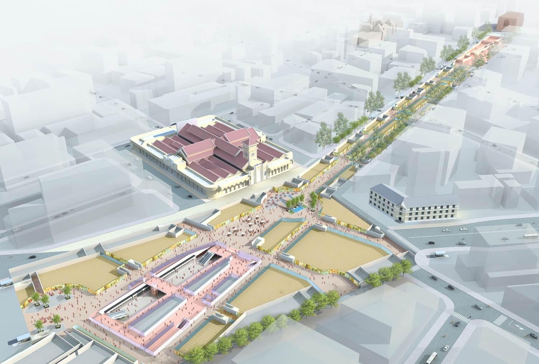 Dự án khu Trung tâm Thương mại ngầm tại Nhà ga Bến Thành và dọc đường Lê Lợi.
