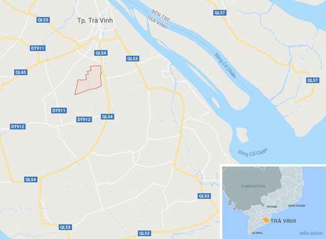 Xã Đa Lộc (khoanh đỏ), nơi xảy ra vụ việc. Ảnh: Google Maps.