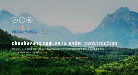 Website của chùa Ba Vàng ngừng hoạt động