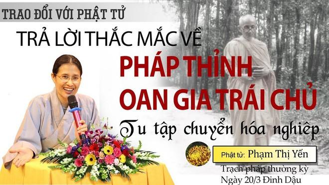 Bà Phạm Thị Yến trên một banner giới thiệu.