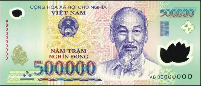 Tiền mệnh giá 500 nghìn thật với các đặc điểm nhận dạng sắc nét và tinh tế.