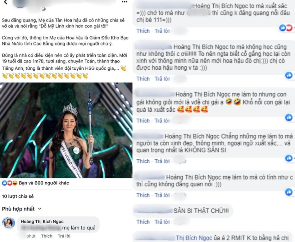 Bì  nh luận của thí sinh mang SBD 111 nhận chỉ trích vì bị nghi mỉa mai Tân Hoa hậu.