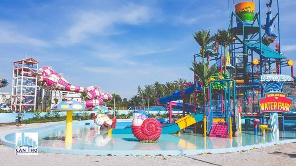 Khu công viên nước được trang trí đẹp mắt  Khu trò chơi mạo hiểm đang chờ đợi các thánh thích cảm giác mạnh