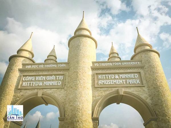 Cổng chính của công viên nguy nga, tráng lệ
