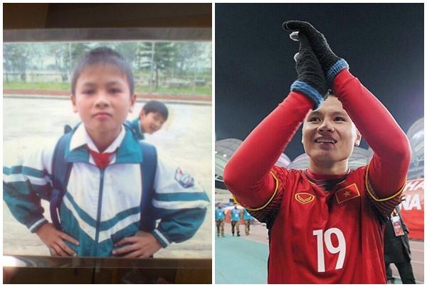 Nguyễn Quang Hải cũng là cái tên được nhiều người nhắc đến khi ghi 2 bàn thắng quan trọng trong trận bán kết. 9 tuổi, anh đã xin gia đình cho đi theo bóng đá chuyên nghiệp. Sợ con vất vả, nhưng trước sự bản lĩnh và ham mê với trái bóng của con, gia đình đã đồng ý và Quang Hải gia nhập đội trẻ Hà Nội T&T.