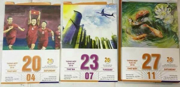 """Tờ lịch """"tiên tri""""."""