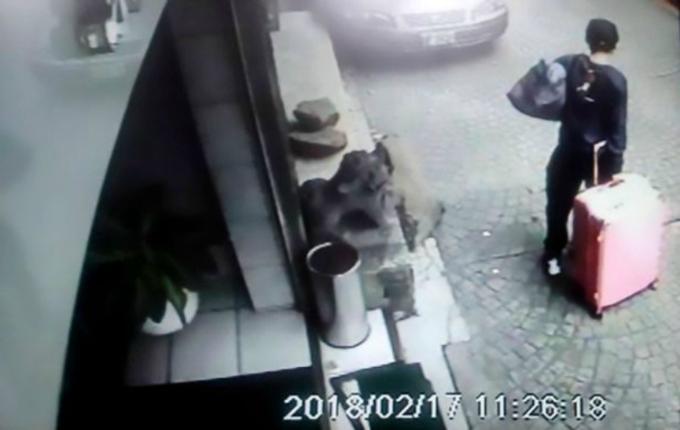 Hình ảnh ghi lại từ camera an ninh.