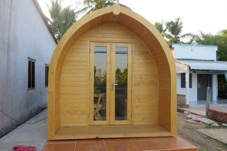 Căn nhà có thiết kế rất độc đáo.