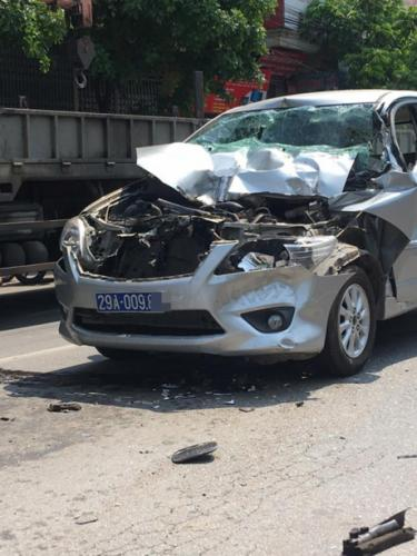 Hiện trường xảy ra vụ tai nạn. Ảnh CTV.
