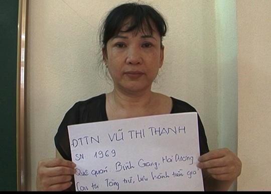 Sau 19 năm trốn truy nã tội tàng trữ, lưu hành tiền giả, Vũ Thị Thanh đã sa lưới pháp luật - Ảnh: Công an tỉnh Ninh Bình