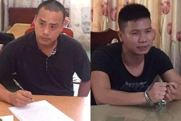 Cường và Thái bị cơ quan công an bắt giữ ngay sau khi gây án