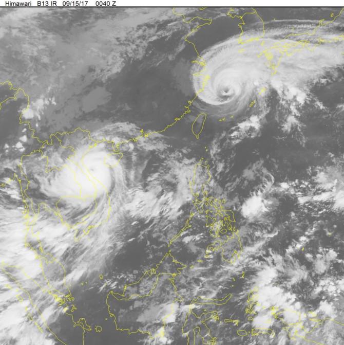 Ảnh mây vệ tinh cho thấy bão số 10 với sức công phá cực mạnh đã tiến vào nước ta