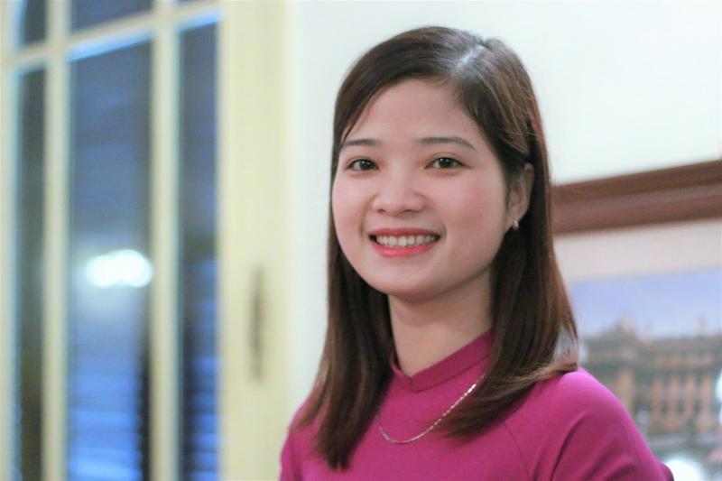 Cô giáo Đàm Thị Hiên (Trường Mầm non Liên cơ, huyện Vĩnh Tường, tỉnh Vĩnh Phúc).  Ảnh: Thanh Hùng