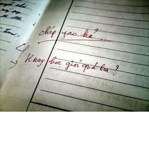 Chỉ cần đọc qua là thầy cô biết chúng ta chép phao hay không. Bởi chính thầy cô cũng đã trải qua thời học sinh và cũng bởi những kiến thức họ nắm giữ là quá chắc chắn.
