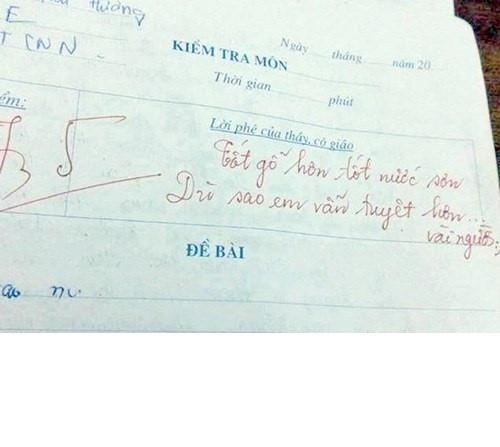 Thời còn cắp sách tới trường, mỗi lần nhận trên tay bài kiểm tra ai mà chẳng