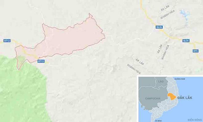 Xã Cư Pui nơi xảy ra sự việc. Ảnh: Google Maps.