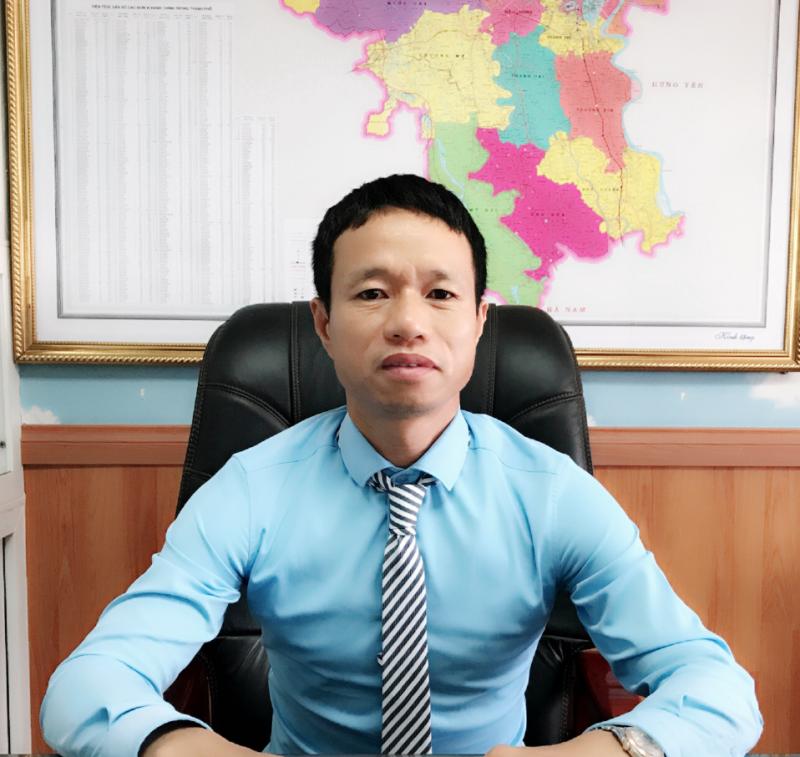 Ông Trần Văn Phiếu - Giám đốc Cty TNHH MTV ĐTXD&TM Tiên Phong VINA