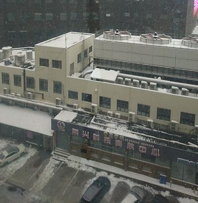 Tuyết rơi trở lại tại Thường Châu sáng 27/1.Ảnh: Mạnh Vũ