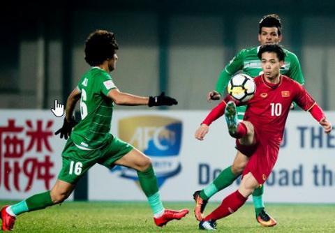 U23 Việt Nam nỗ lực vượt qua những thử thách khắc nghiệt tại Thường Châu.Ảnh: AFC