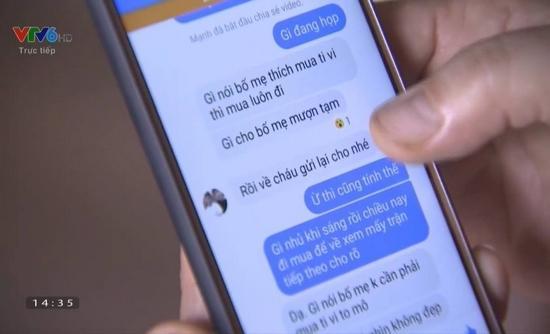 Tin nhắn mà Xuân Mạnh vay tiền dì mua ti vi cho bố mẹ để xem mấy trận đấu tiếp theo