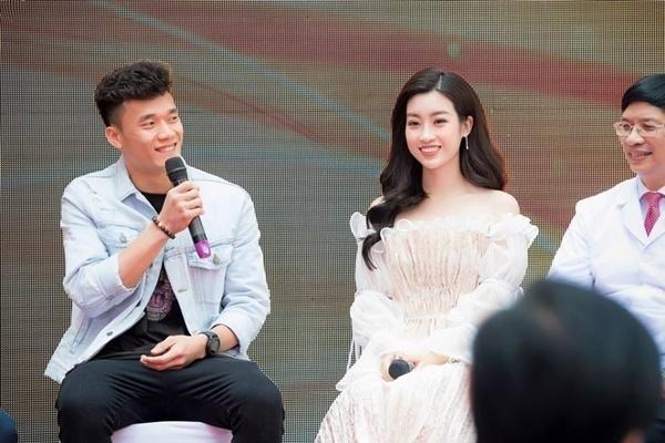 Bùi Tiến Dũng có dịp tái ngộ Hoa hậu Việt Nam 2016 Đỗ Mỹ Linh.
