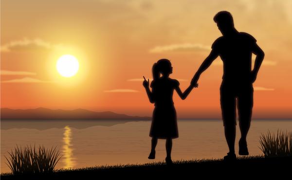Tình cảm giữa ba và con gái thật đáng quý (Ảnh minh họa).