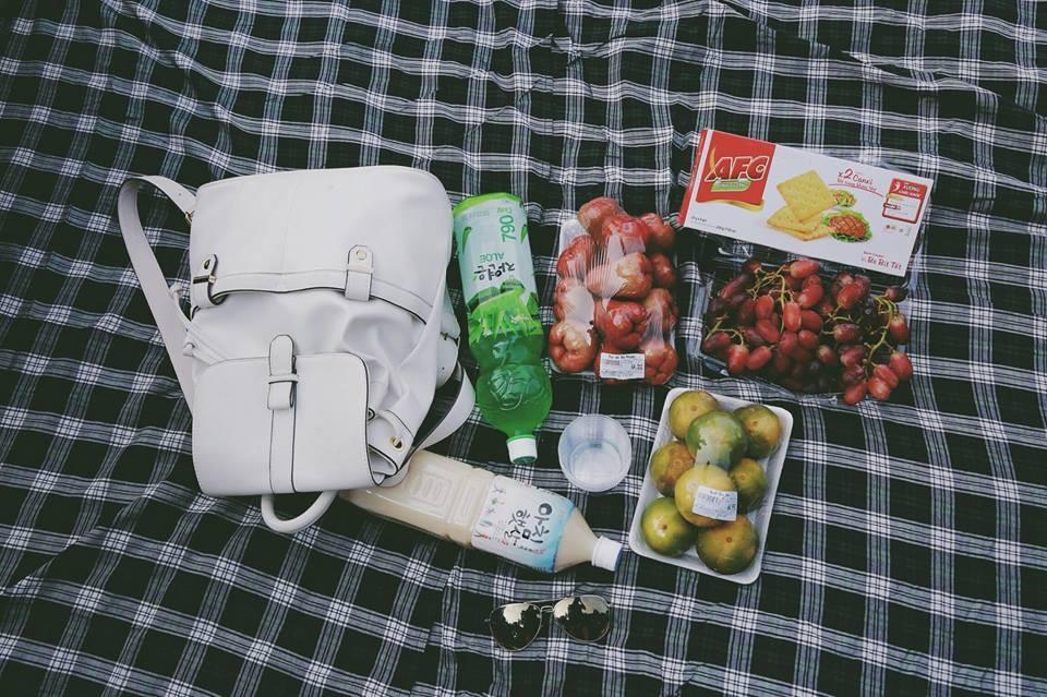 Một bữa picnic ngoài trời lý tưởng. (Ảnh: Quynh Anh)