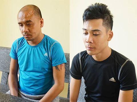 Hai nghi phạm Thảo và Hưng tại cơ quan điều tra