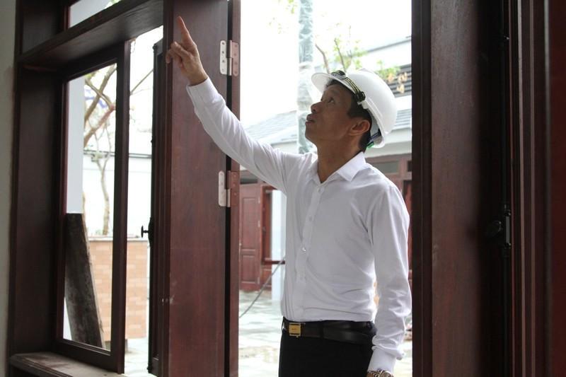 Từng giai đoạn của dự án được ông Trần Văn Phiếu kiểm tra, chỉ đạo thi công cẩn thận